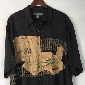 Tori Richard Honolulu Men 2XL/XXL100% Silk Shirt
